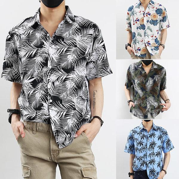 95~130 여름 반팔 하와이안 알로하 셔츠 남방
