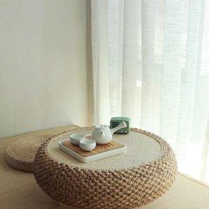 방석 라탄 테이블 좌식 미니 원목 원탁 원형 티테이블