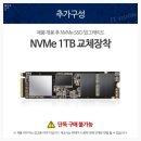 NVMe SSD 1TB 교체장착 (단독구매불가옵션)