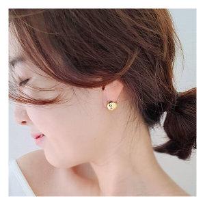 국산 실버볼 볼드원터치 귀걸이 3color