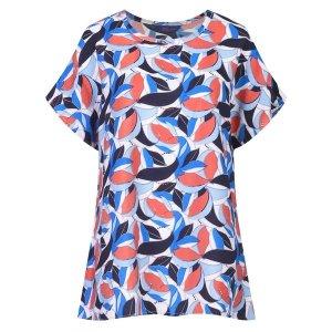샵앤 가오리 패턴 냉감 인견 캡소매 티셔츠 OB-WSH-2