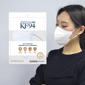 KF94 마스크 새부리형 화이트 대형 국산 생산 100매