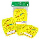 쓰고지우는 시계공부 시간학습 모형시계 5P세트 /EDX