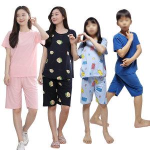 아동잠옷 세트 쿨 피치 도형 여름 유아 파자마 홈웨어