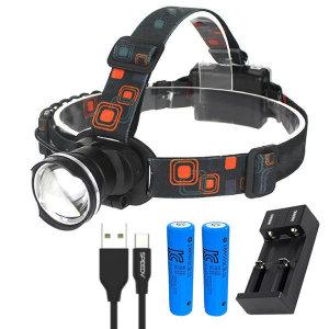 각종 레져용 광각 LED 헤드랜턴+3000mah 배터리 세트