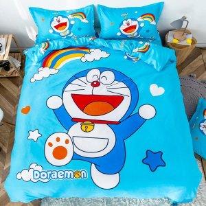 도라에몽 캐릭터 베개 침대 이불커버 침구 3종세트