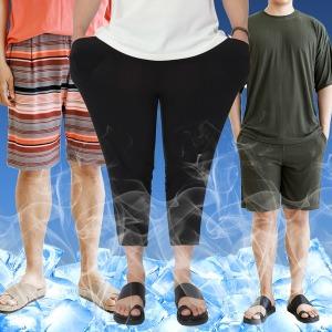 XL~4XL 빅사이즈 아이스 쿨팬츠 아이스티셔츠