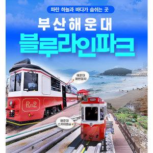 부산 해운대 블루라인파크 해변열차+스카이캡슐 패키지 탑승권(최소 2일전 예약)