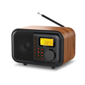 LHV780 블루투스 스피커 FM 라디오 MP3 시계 레트로