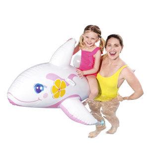 BW 41037 타고노는 투명돌고래 핑크 물놀이 튜브