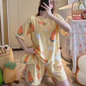 수맘 여름 요루 면 홈웨어 잠옷 세트