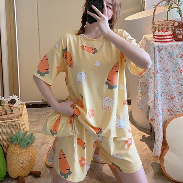 12%쿠폰 수맘 여름 요루 면 홈웨어 잠옷 세트