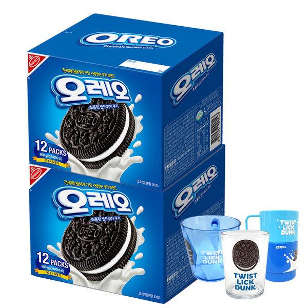 오레오 쿠키 화이트크림맛 600g 2개+오레오컵