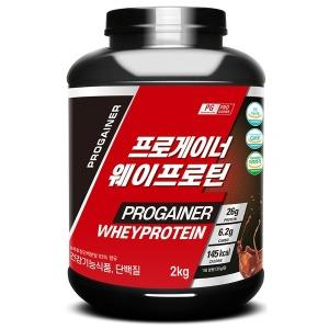 프로게이너 웨이프로틴 2kg_초코 단백질 보충제