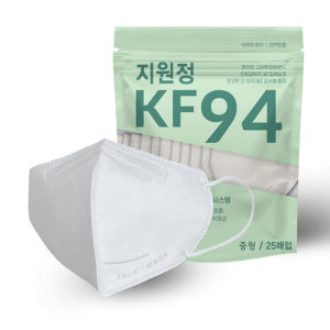 지원정 새부리형 KF94 중형 마스크 100매 비말차단