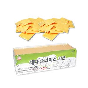 코리원/썬리취 체다/무색소 슬라이스 치즈 100매/블럭
