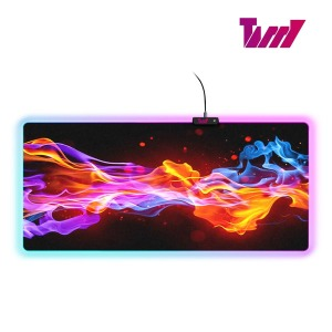 V6 RGB LED 게이밍 장패드 6mm 900x400mm 완전방수