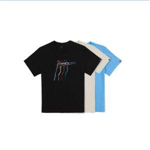 밀레히어로 건행 남여공용라운드 티셔츠MXPFT021