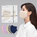 아르떼 국산 새부리형 일회용 컬러 마스크 베이지100매