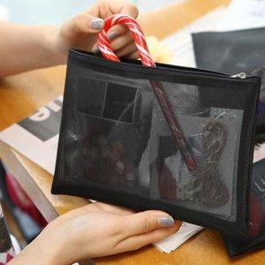 메쉬 망사 화장품파우치(중) 여행용 파우치 가방