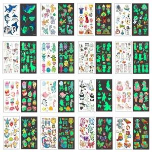 마스크 판박이 야광 나비 어린이 타투 문신 스티커