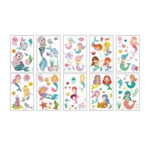 마스크 판박이 인어공주 어린이 타투 문신 스티커