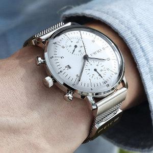 중저가명품 OL_M02 가죽 메탈 고급 남자손목시계