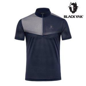 블랙야크 남성 피콜로 반집업 반팔 티셔츠_1BYTSM0021_NA