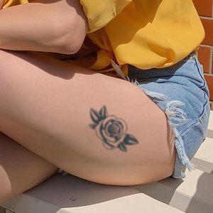 인스턴트 미니 셀프 헤나 나비 꽃 문신 타투 스티커