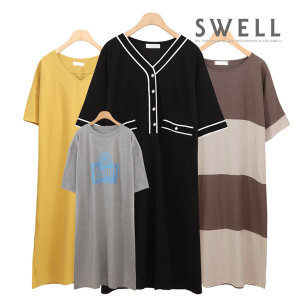 66~120 롱 티셔츠 원피스형 빅사이즈 여성의류 임부복