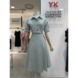 YK W몰 벨트 포인트 랩 원피스 Y212O615
