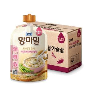 맘마밀 아스파라거스와닭가슴살 100g 10팩 (12개월)
