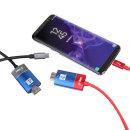 타입C to HDMI 스마트폰 화면공유 미러링케이블 C 레드