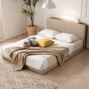 모아 LED수납 저상형 침대(매트제외Q)