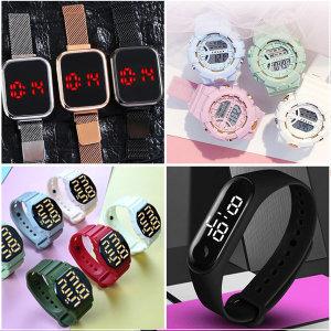 LED 스크린 남자 여자 전자 방수 패션 밴드 손목 시계