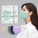 아르떼 국산 새부리형 일회용 컬러 마스크 민트 100매