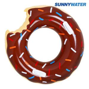 초코 도넛 튜브 120cm 원형 라이더 라운지 물놀이용품