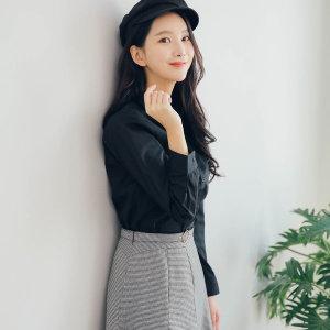 기본스타일 블랙 셔츠 남방 W002 블라우스 여성셔츠