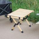 접이식 휴대용 우드 롤 캠핑 테이블 선반 OCP-W54