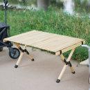 접이식 휴대용 우드 롤 캠핑 테이블 선반 OCP-W90