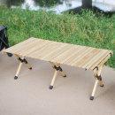 접이식 휴대용 우드 롤 캠핑 테이블 선반 OCP-W120
