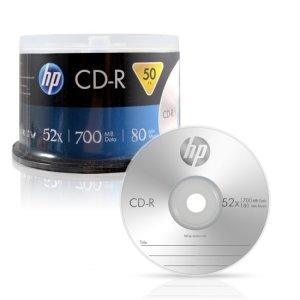 HP CD-R 52배속 700MB 케�� 50매