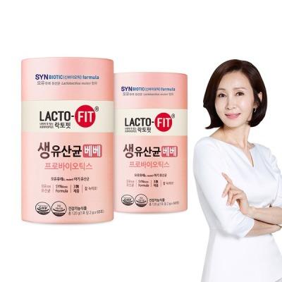 [종근당건강] 15% 락토핏 생유산균 베베 60포 2통