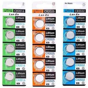 리튬 코인 CR2025 동전 CR2032 수은 건전지 CR2016 단
