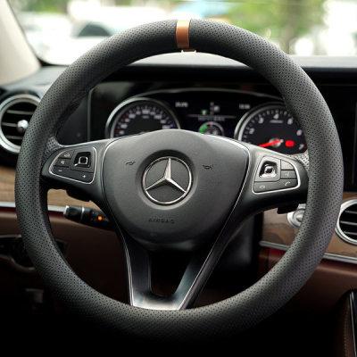 [훠링] 시그니처 차량용 순정 타공 핸들커버 브론즈골드 380