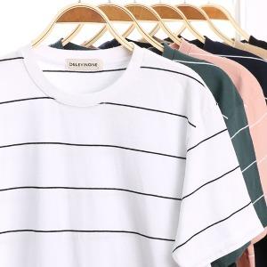 단가라/슬라브/반팔티/M~4XL/티셔츠/스트라이프