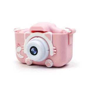 넥스 X5S 고양이발 카메라 2000만 핑크 어린이선물