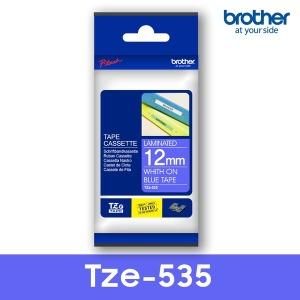 TZe-535_파랑바탕_흰색글씨12mm 브라더정품라벨테이프