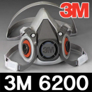 3M 6200 방독/방진 마스크/반면형면체/방독면/2091/2097/6003/5N11필터/정화통 결합사용/호흡보호구/쓰리엠