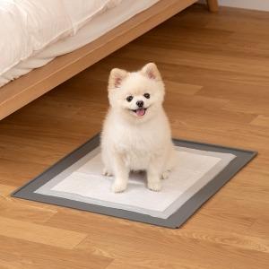 클린 논슬립 실리콘 강아지 배변판 매트 (그레이)